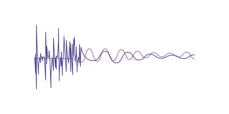 Music sound waves, audio digital equalizer technology vector Illustration on a white background vector illustration