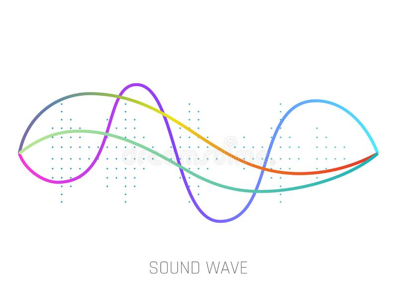 Music sound waves isolated on white background. Audio equalizer technology, pulse musical. Vector illustration. stock illustration