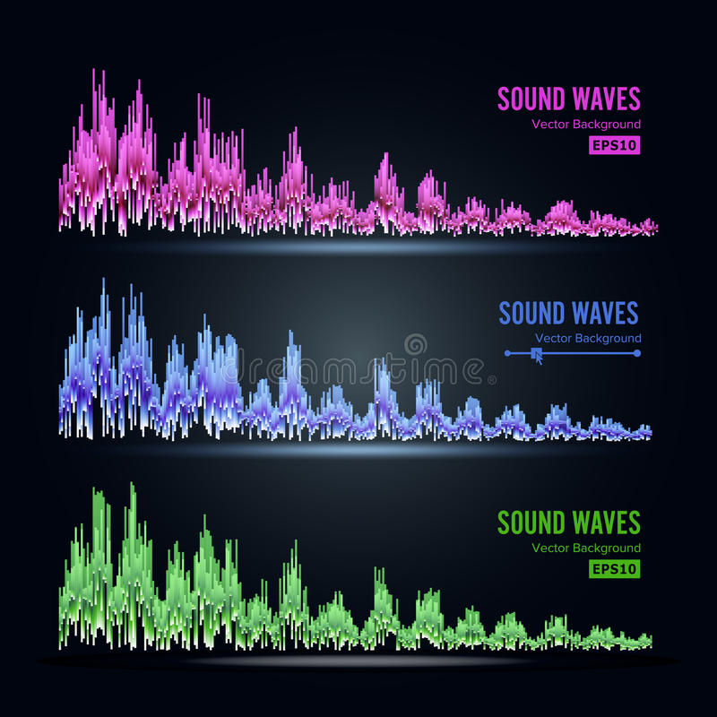 Download Music Sound Waves Pulse Abstract Vector Synthesis And Electronic Hearing Technology