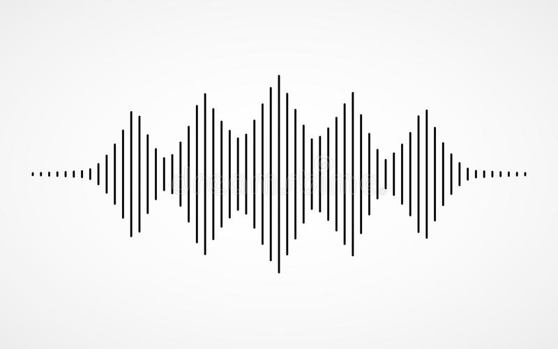 Music sound waves vector illustration