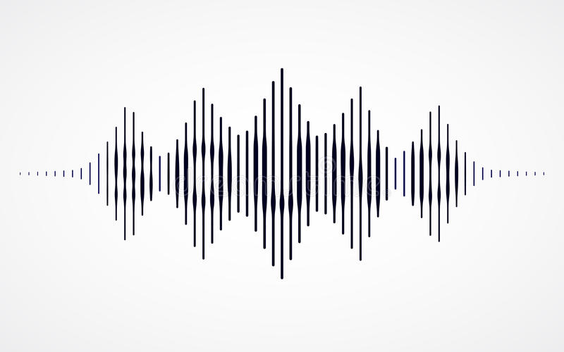 Music sound waves. On white background. RGB Global color stock illustration