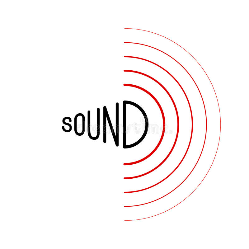 Music sound waves. On white background. RGB Global color royalty free illustration