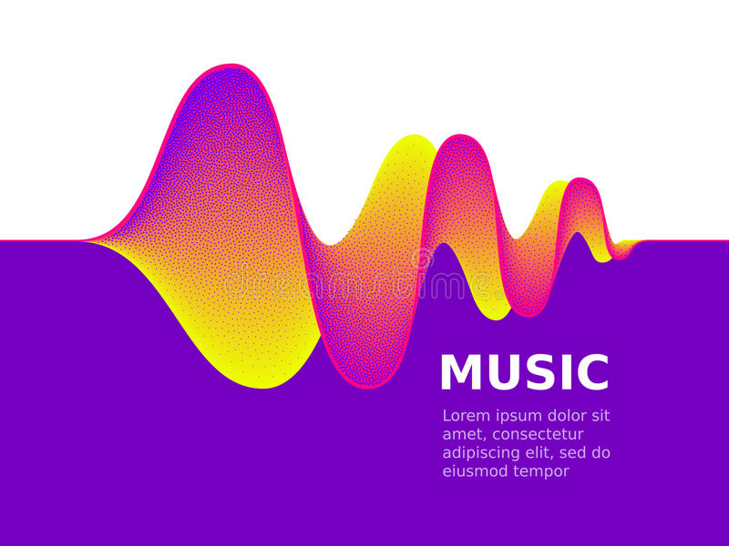 Music sound waves. On white background. RGB Global color vector illustration