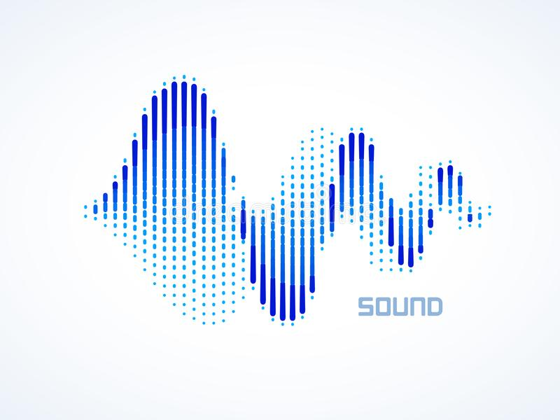 Music sound waves royalty free illustration