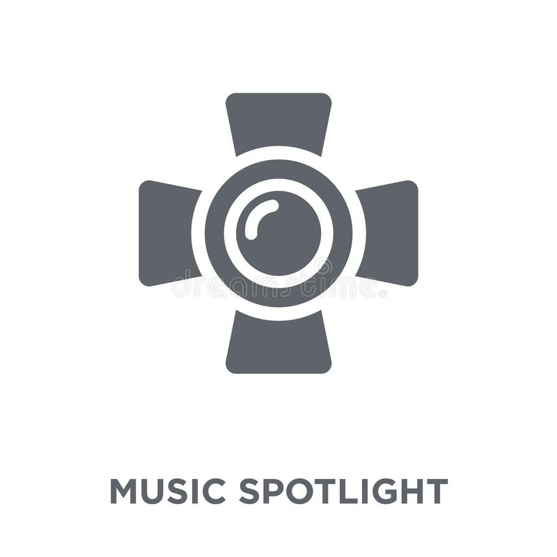 music Spotlight icon from Music collection. stock illustration