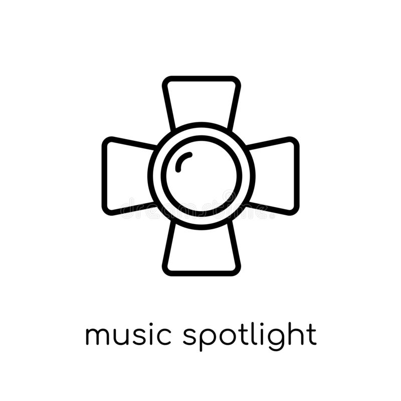 music Spotlight icon from Music collection. vector illustration