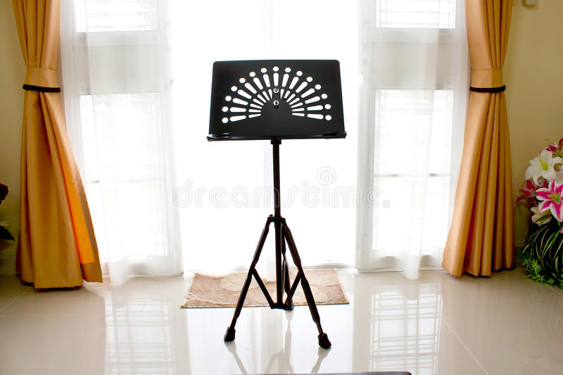 Download Music stand in home stock image. Image of desk, tripod - 26628803