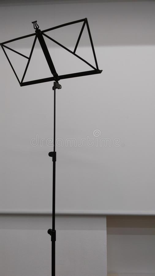 Music stand. A stand for musicians. Hold your sheets of music stock photos