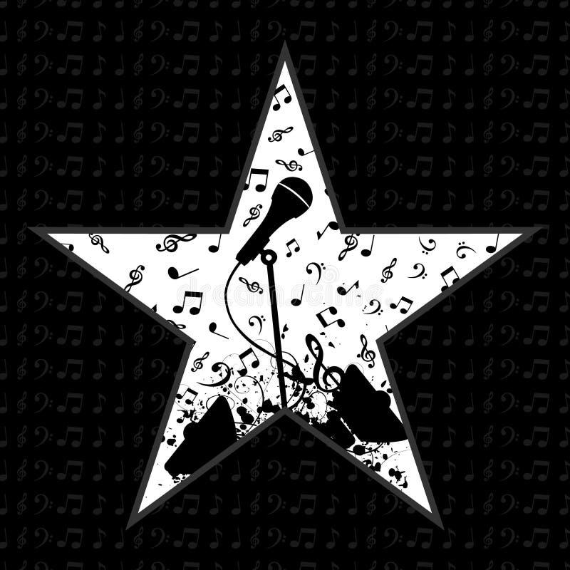 Music a star stock illustration