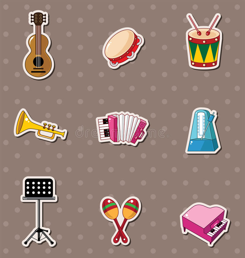 Download Music stickers stock vector. Illustration of bongo, equipment - 24617319