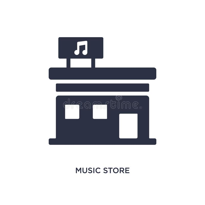 Music store icon on white background. Simple element illustration from music concept. Music store icon. Simple element illustration from music concept. music vector illustration