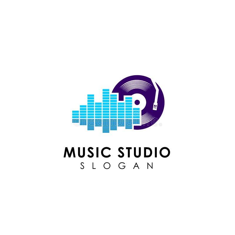 music studio logo designs template royalty free illustration