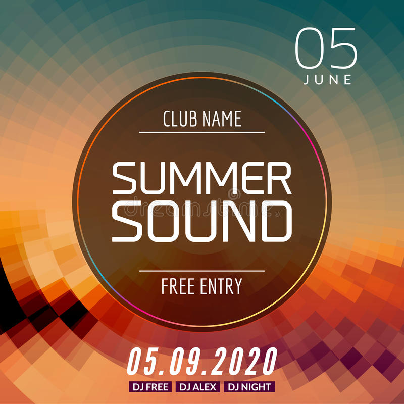 Download Music Summer Party Poster Graphic Design Disco Dance Flyer Or Template