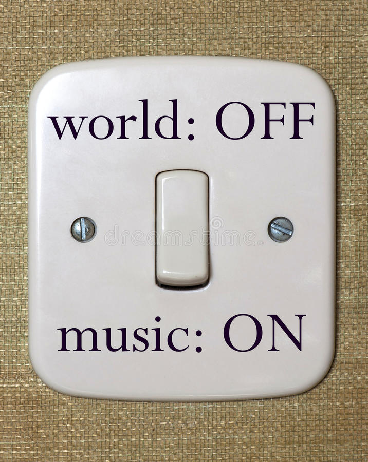 Music switch royalty free stock image