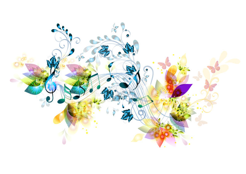 Music symbol. With notes for your design. Vectors design stock illustration