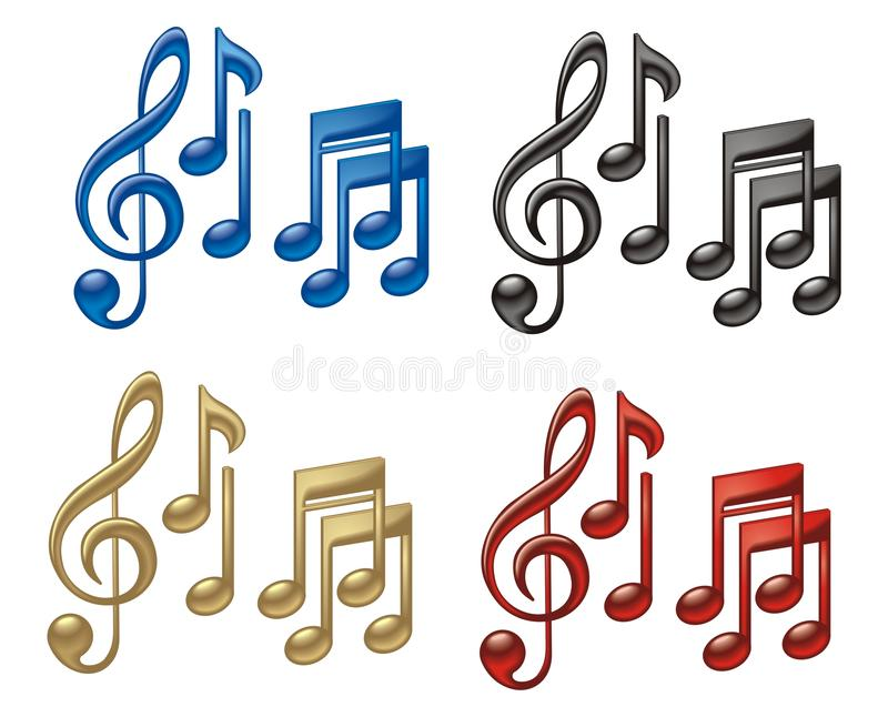 Download Music Symbols stock vector. Illustration of charm, element - 22339701