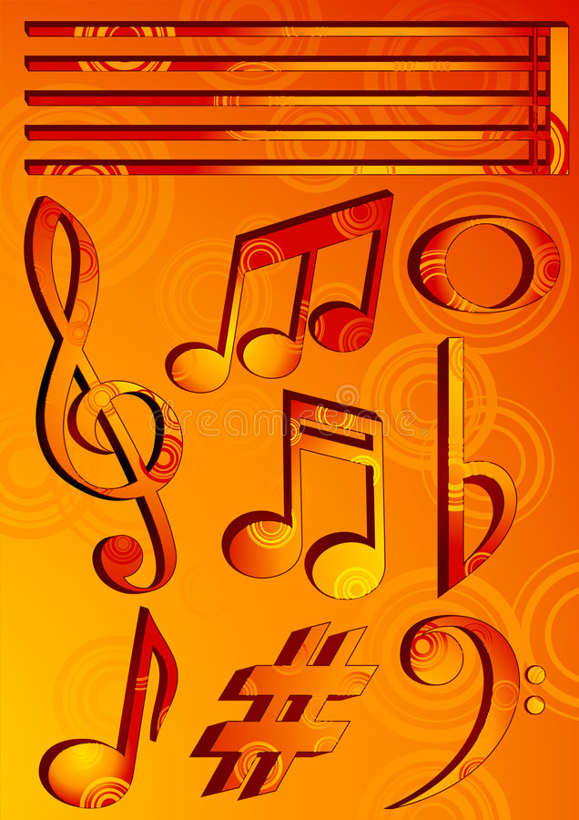 Music_symbols royalty free illustration