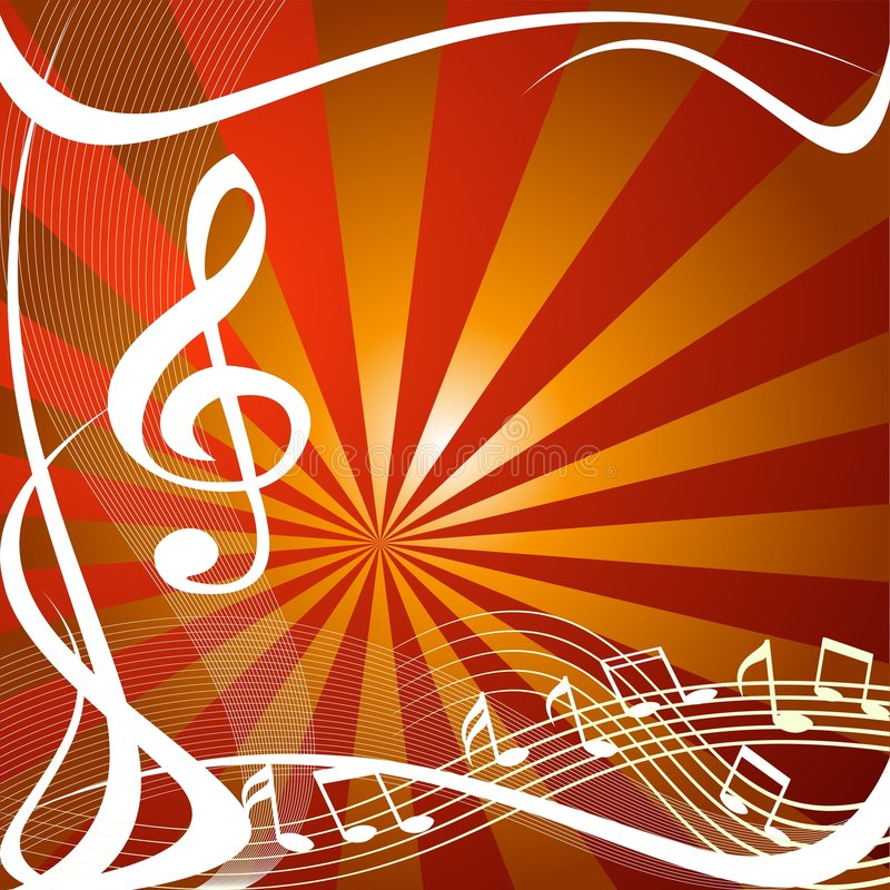 Music symbols design stock illustration
