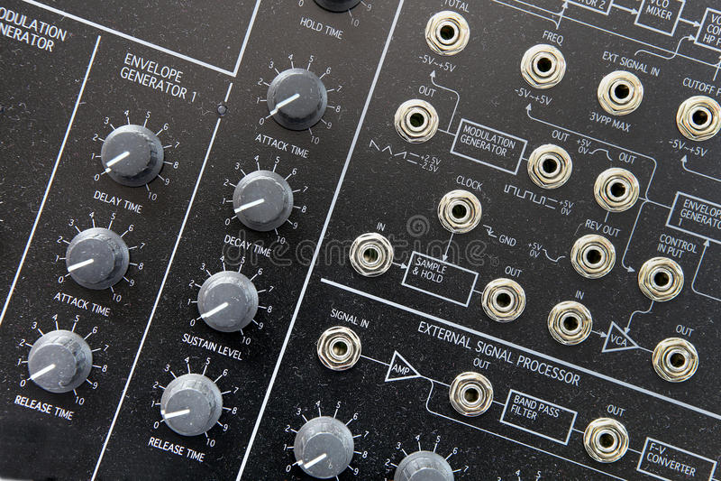Music synthesizer royalty free stock image