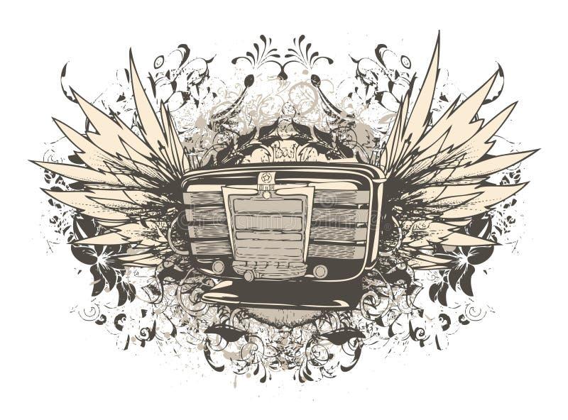 Music T-shirt Design Royalty Free Stock Photo