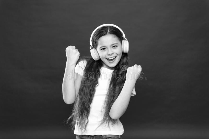 Music taste. Music plays an important part lives teenagers. Powerful effect music teenagers their emotions, perception. Of world. Girl listen music headphones stock image