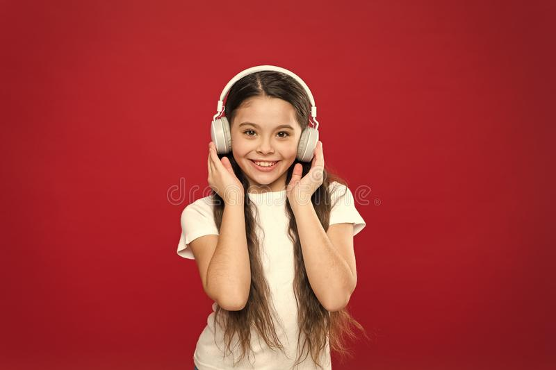 Music taste. Music plays an important part lives teenagers. Powerful effect music teenagers their emotions, perception. Of world. Girl listen music headphones stock photo