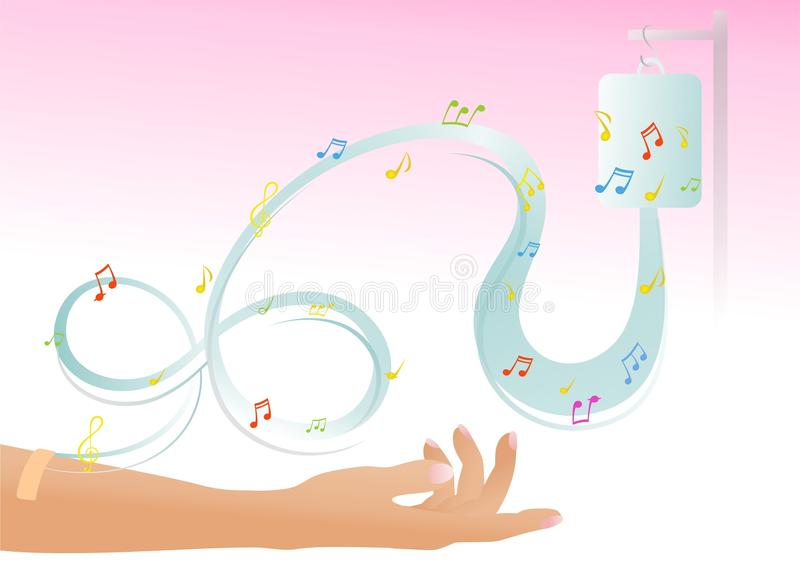 Music therapy vector illustration
