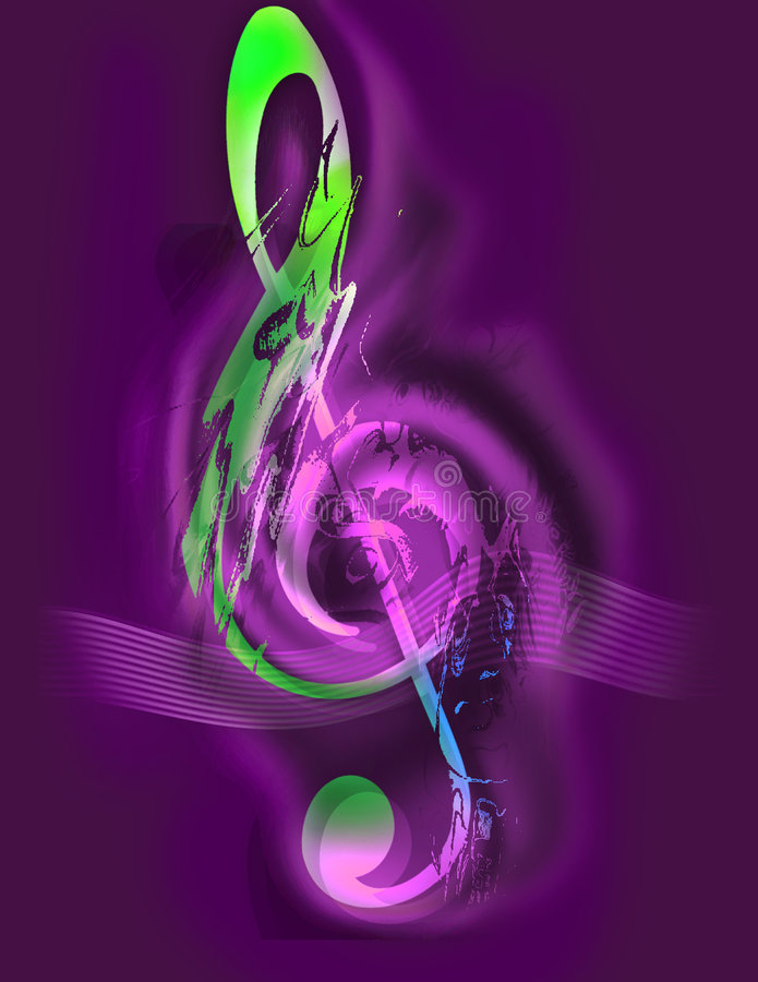 Free Music - Treble Clef - Digital Art Stock Photo - 157270