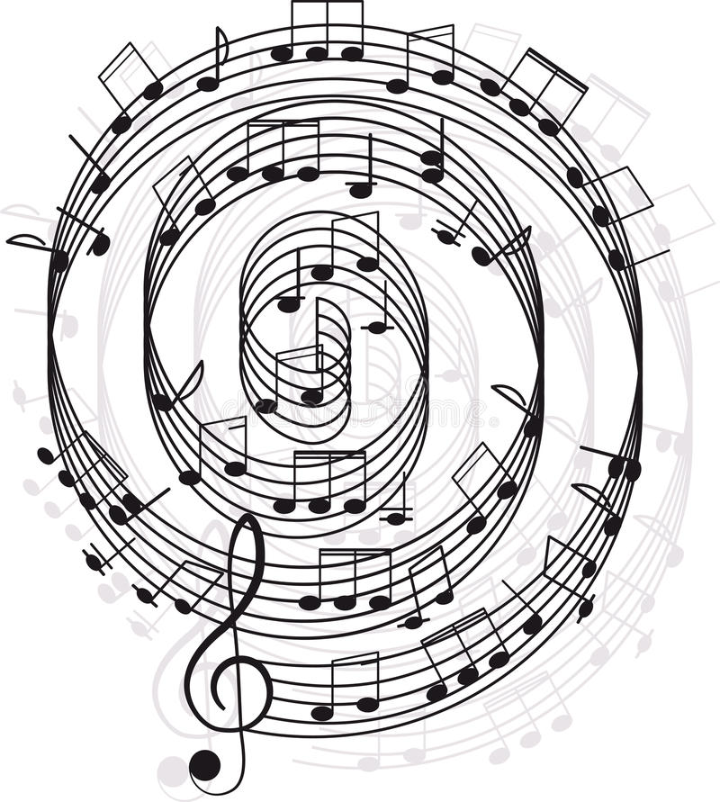 Download Music. Treble Clef And Notes For Your Design Royalty Free Stock Photos - Image: 25167768