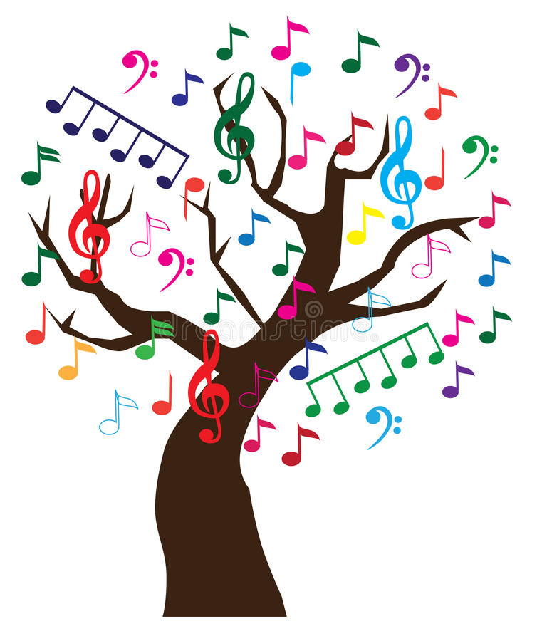 Download Music tree stock vector. Image of color, musical, branch - 21204049