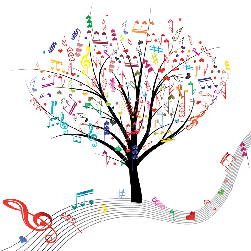 Music tree. stock illustration