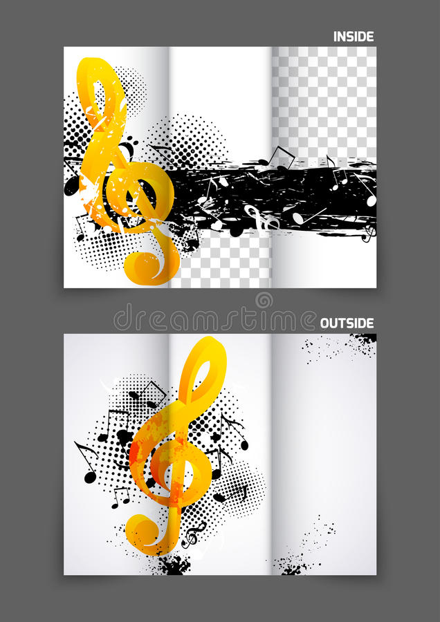 Music Tri Fold Brochure Stock Vector  Image