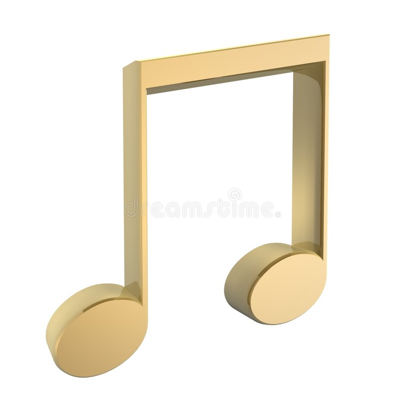Download Music tune stock illustration. Image of play, gold, macro - 722350