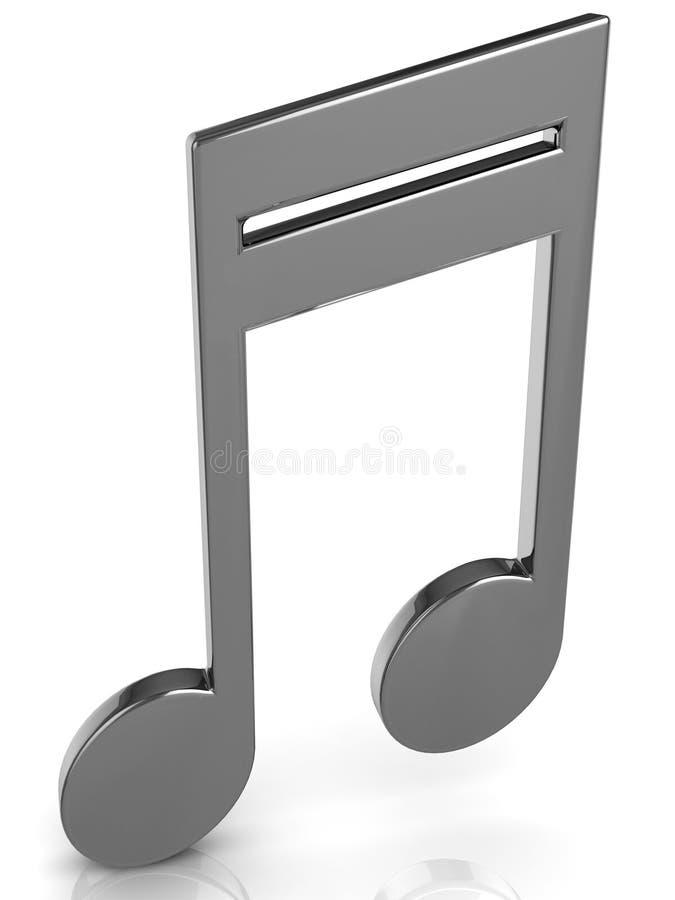 Music tune. 3D music tune. Isolated render. Music symbol vector illustration
