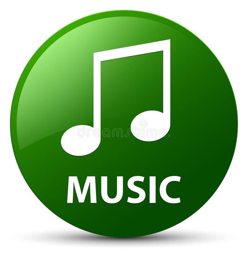 Music (tune icon) green round button. Music (tune icon) isolated on green round button abstract illustration stock illustration