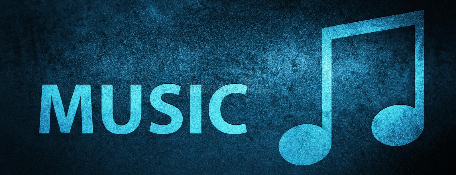 Music (tune icon) special blue banner background. Music (tune icon) isolated on special blue banner background abstract illustration vector illustration
