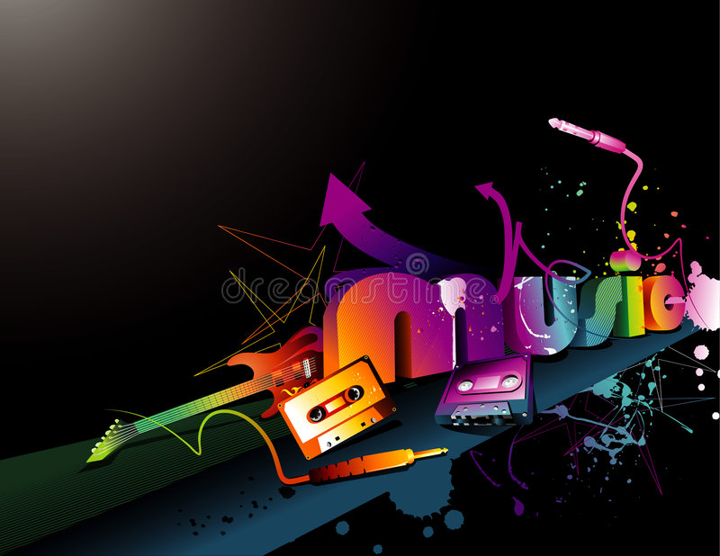 Music vector composition stock illustration
