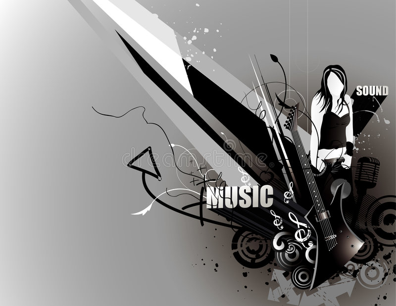 Music Vector Composition Stock Photos
