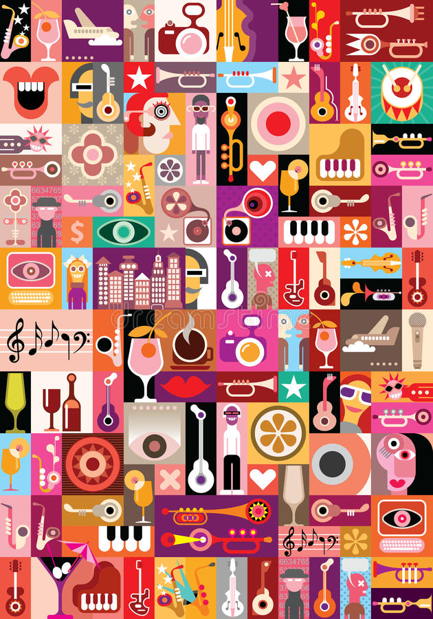 Free Music Vector Illustration Royalty Free Stock Images - 40244999