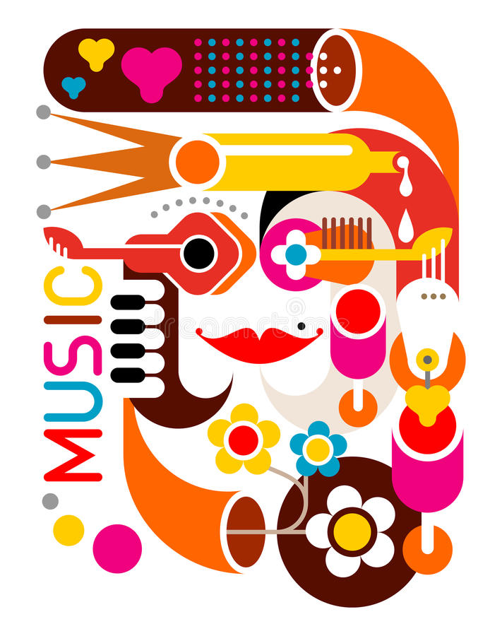Free Music - Vector Poster Stock Image - 24917971