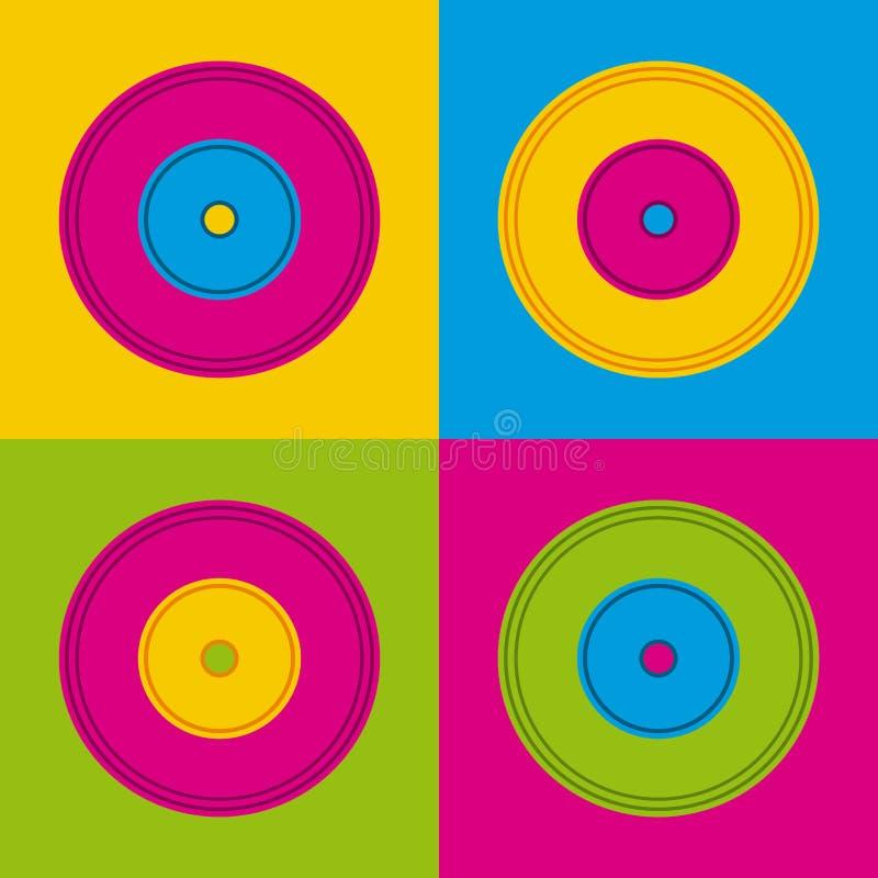Music vinyls icon royalty free illustration