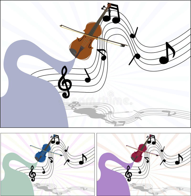 Download Music of the violin stock vector. Image of line, plenty - 13197340