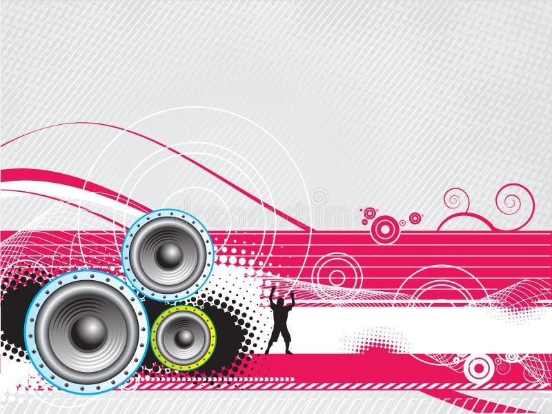 Music wave background vector illustration