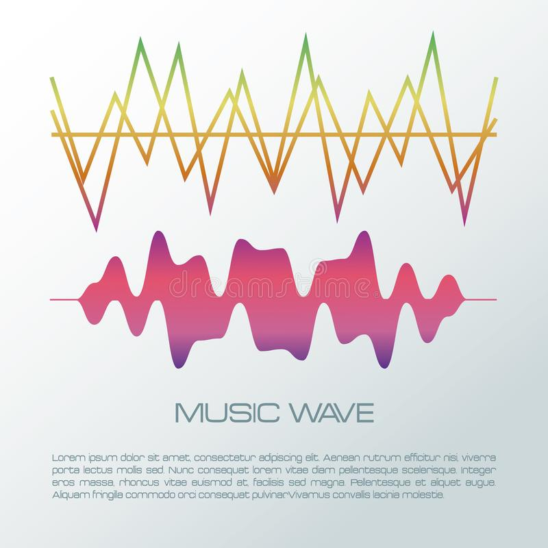 Music wave infographic royalty free illustration