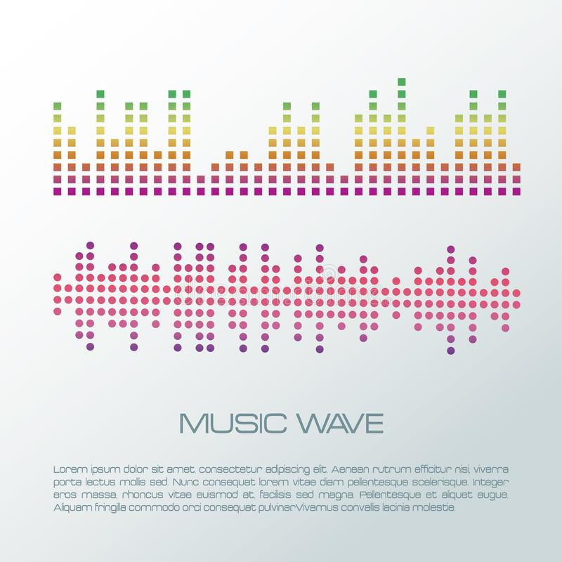 Music wave infographic stock illustration