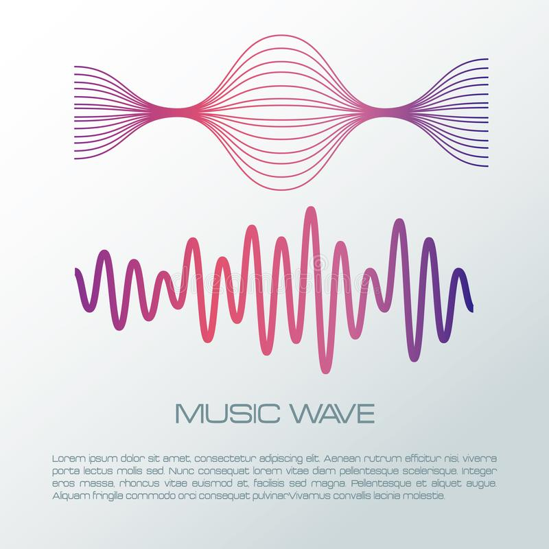 Music wave infographic vector illustration