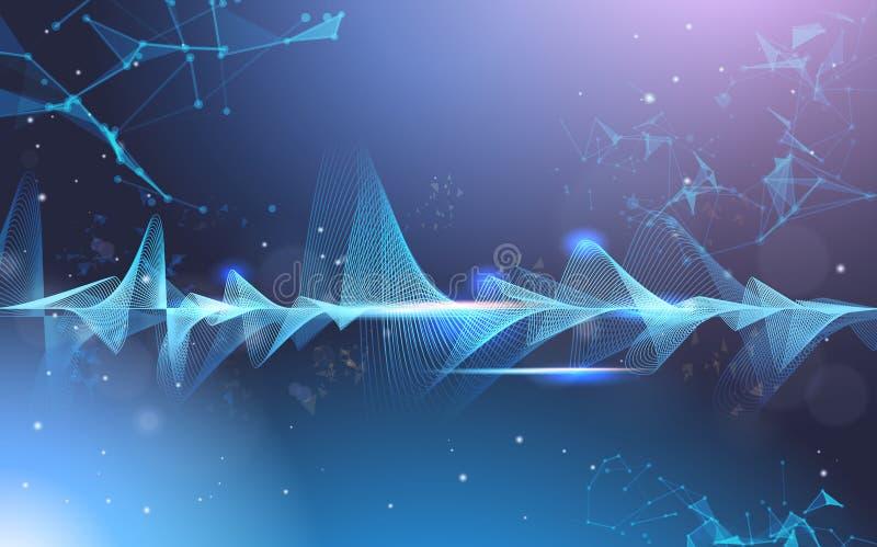 Music waves equalizer musical bar dark background digital wave tech concept horizontal. Vector illustration vector illustration