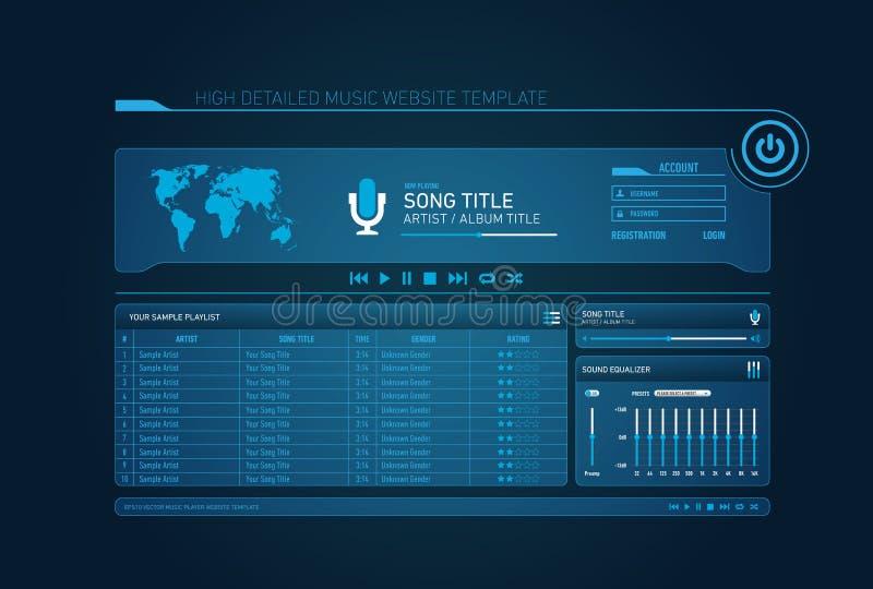 Music website template vector illustration