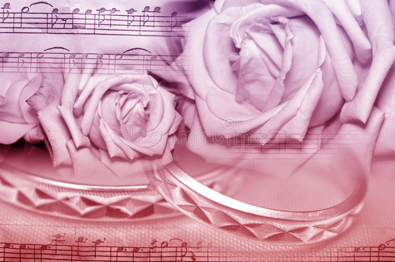 Music wedding roses stock images