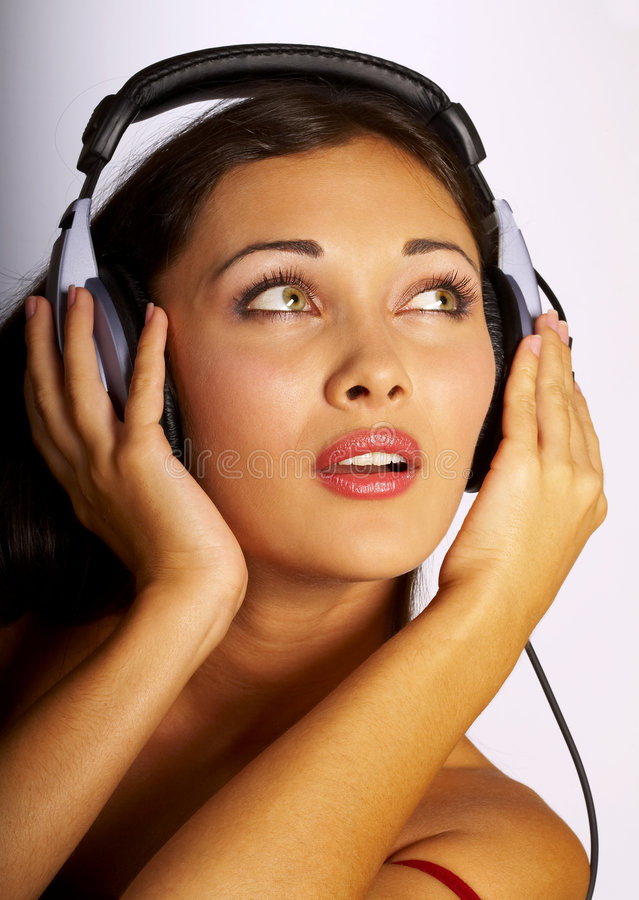 Music women royalty free stock images